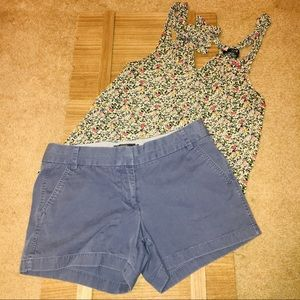 J.Crew Blue Chino Shorts